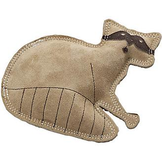 SPOT Dura-Fused Leather Raccoon Dog Toy