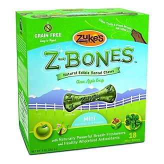 Zukes Z-Bone Apple Edible Dental Dog Chew