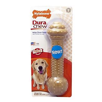 DuraChew Barbell Peanut Butter Dog Toy