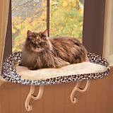 KH Mfg Deluxe Leopard Kitty Sill Window Cat Perch