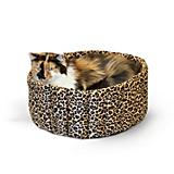 KH Mfg Leopard Lazy Cup Pet Bed