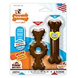 Nylabone Puppy Chew Textured Ring n Bone2pk