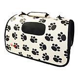 Pet Life Folding Cage Paw Print Pet Carrier