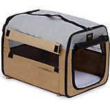 Pet Life Khaki Collapsible Easy House Carrier MD
