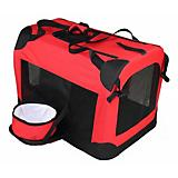 Pet Life Red Deluxe Vista View Pet Carrier