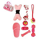 Pet Life 8-Piece Duffle Dog Toy Set