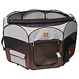 One for Pets Grey/Brown Portable Pet Playpen