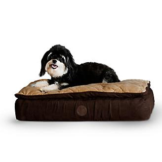KH Mfg Feather Top Chocolate Ortho Dog Bed