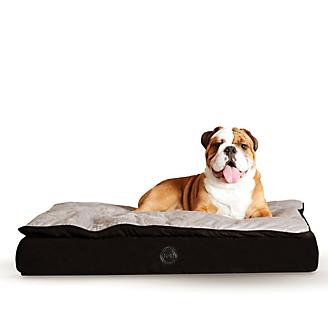 KH Mfg Feather Top Black/Gray Ortho Dog Bed