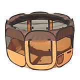 Pet Life All-Terrain Travel Pet Playpen Brown