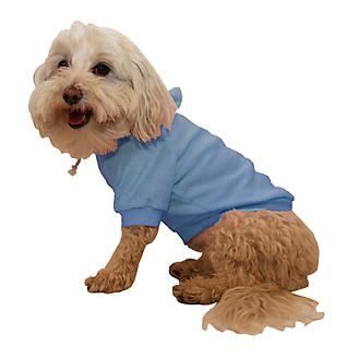 Pet Life French Terry Pet Hoodie Teal Blue