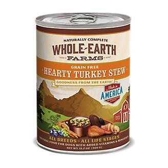 Whole Earth Farms Turkey Stew Can Dog Food 12pk