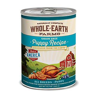 Whole Earth Farms Can Puppy Food 12pk