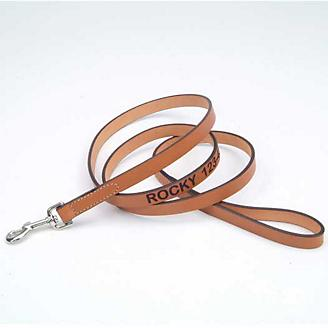 Personalized 6ft Leather Dog Lead