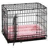 Quiet Time Deluxe Double Bolster Pet Bed Pink 22in