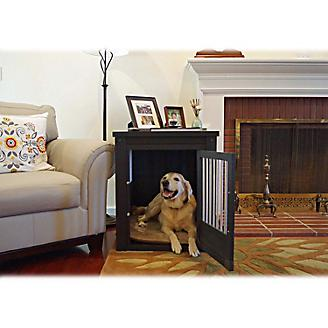 New Age Pet Espresso Dog Crate w/ Metal Spindles