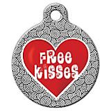 Free Kisses Pet ID Tag