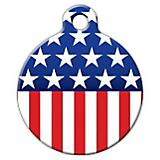 Stars and Stripes Pet ID Tag