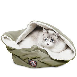 Majestic Pet 17 inch Sage Suede Burrow Pet Bed