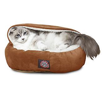 Majestic Pet 18 inch Rust Suede Canopy Pet Bed