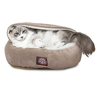 Majestic Pet 18in Stone Suede Canopy Pet Bed