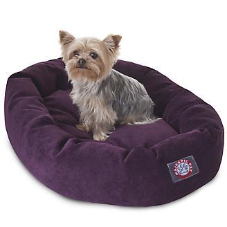 Majestic Pet Aubergine Villa Bagel Pet Bed