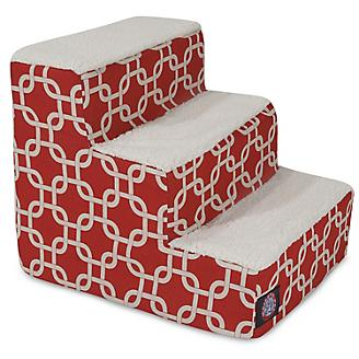Majestic Pet Red Links Pet Stairs