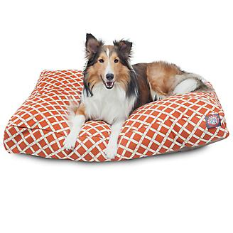 Majestic Outdoor Orange Bamboo Rectangle Pet Bed