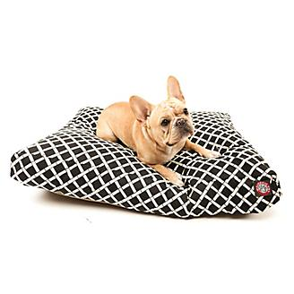 Majestic Outdoor Black Bamboo Rectangle Pet Bed