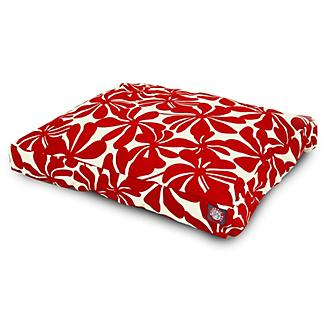 Outdoor Red Plantation Rectangle Pet Bed