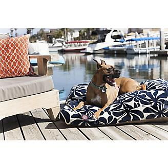 Outdoor Navy Blue Plantation Rectangle Pet Bed