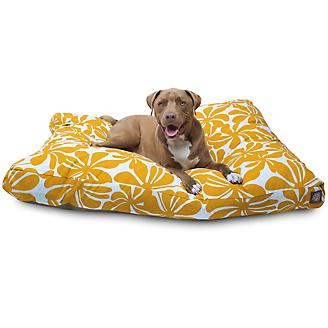 Outdoor Yellow Plantation Rectangle Pet Bed