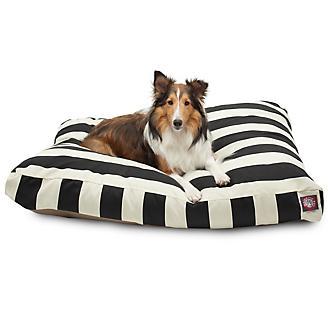 Majestic Outdoor Black Stripe Rectangle Pet Bed