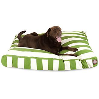 Majestic Outdoor Sage Stripe Rectangle Pet Bed