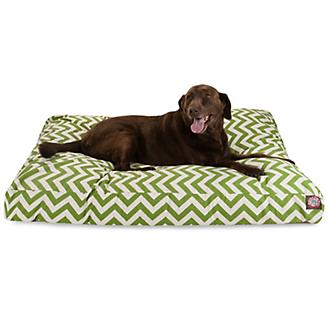 Majestic Outdoor Sage Chevron Rectangle Pet Bed