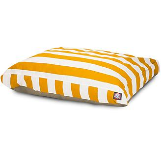Majestic Outdoor Yellow Stripe Rectangle Pet Bed