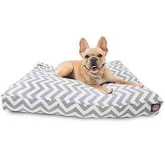 Majestic Outdoor Gray Chevron Rectangle Pet Bed