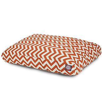 Outdoor Orange Chevron Rectangle Pet Bed