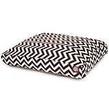 Outdoor Chocolate Chevron Rectangle Pet Bed