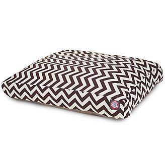 Outdoor Chocolate Chevron Rectangle Pet Bed