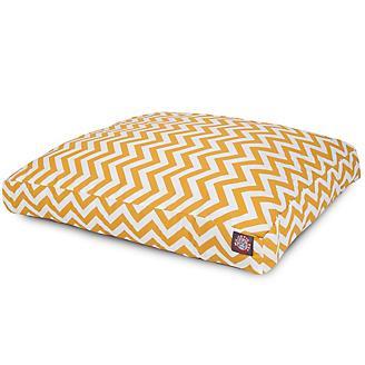 Outdoor Yellow Chevron Rectangle Pet Bed
