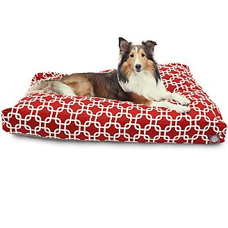 Majestic Outdoor Red Links Rectangle Pet Bed