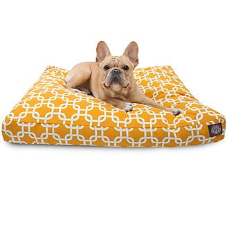 Majestic Outdoor Yellow Links Rectangle Pet Bed