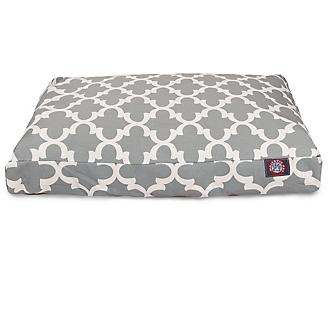 Majestic Outdoor Gray Trellis Rectangle Pet Bed