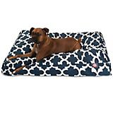 Majestic Outdoor Navy Trellis Rectangle Pet Bed