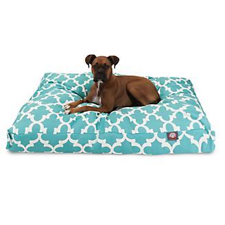 Majestic Outdoor Teal Trellis Rectangle Pet Bed
