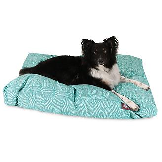 Majestic Outdoor Teal Navajo Rectangle Pet Bed