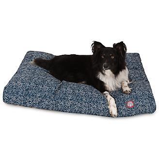 Majestic Outdoor Navy Navajo Rectangle Pet Bed