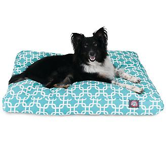 Majestic Outdoor Teal Links Rectangle Pet Bed
