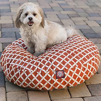 Majestic Pet Outdoor Orange Bamboo Round Pet Bed